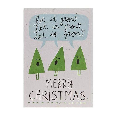 Cartoline piantabili: auguri di Buon Natale e Felice Anno Nuovo