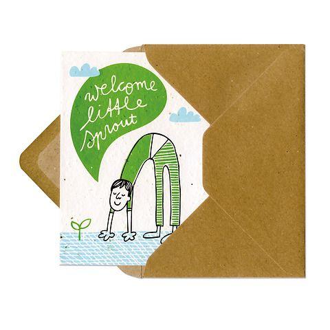 Cartoline di auguri piantabili a tema nascita e amore