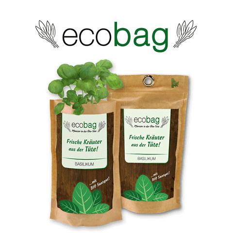 Ecobag con etichette personalizzate