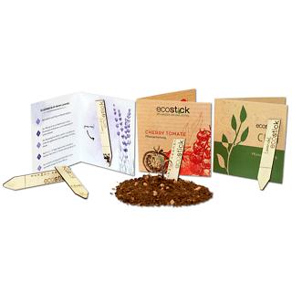 Ecostick • Piante da una stecca di legno personalizzata